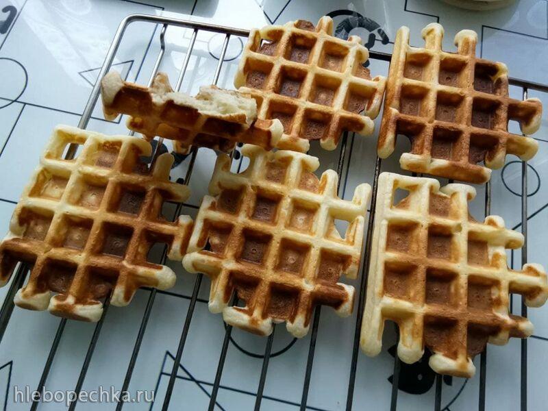 Вафли на твороге «Пышные» в вафельнице Gfgrill GF-020 Waffle Pro (вкусно утилизируем творог)