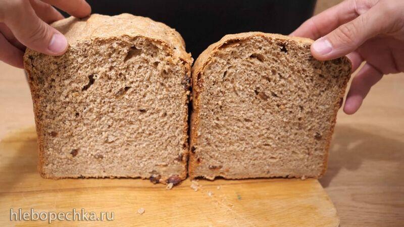 Цельнозерновой хлеб с изюмом в хлебопечке Panasonic SD-R2530 (+видео)