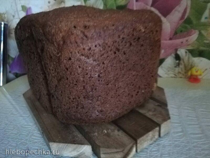 Хлеб ржаной заварной с медом в хлебопечке Panasonic 2511