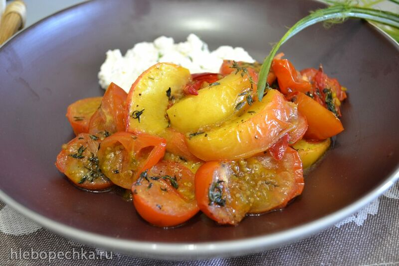 Конфи из помидоров черри на гриле