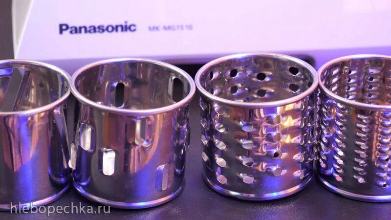 Обзор мясорубки Panasonic MK-MG1510 с тёрками и шинковками в комплекте+видео