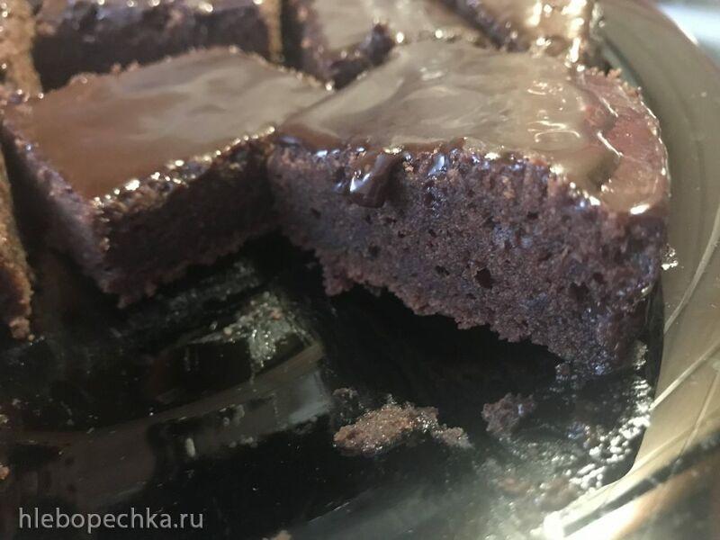 Пирожное шоколадное с шоколадной пропиткой