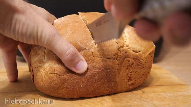 Бездрожжевой хлеб в хлебопечи Panasonic SD-R2530 в автоматической программе (+видео)