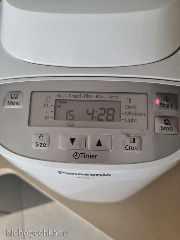 В хлебопечке Panasonic SD 2511 WXC/KXC вместо теста получается хлеб