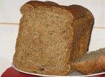 Пшенично-ржаной хлеб с копченым салом (хлебопечка)