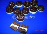 Шоколадная помадка с киви без сахара - два шоколада и фисташки