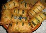 Пирожки слоёные с брынзой и шпинатом