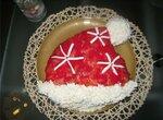Новогодний бутербродный салат Красная шапка