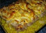 Свиная грудинка на косточке с картофелем