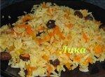 Рис с морковью и изюмом