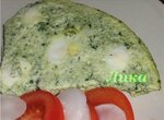 Перепелиные яйца в шпинатном омлете