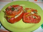 Томаты с овощами, малосольные