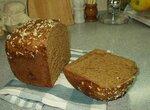 Черный пивной хлеб с отрубями