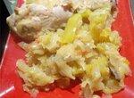 Курица с капустой и перцами