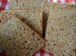 Хлеб ржано-цельнозерновой 50:50 на закваске с копченым салом