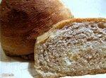 Хлеб пшеничный с цельным зерном и брынзой на закваске