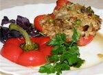Перец, запеченный с рисом и грибами