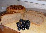 100% цельнозерновой хлебушек с обойной пшеничной и ржаной муки.
