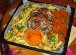 Курица запеченная с орегано и овощами