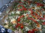 Стейки индейки, запеченые с овощами