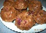 Цельнозерновые ягодно-яблочные маффины с геркулесом