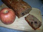 Черничный кекс с яблоками