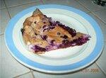 Пирог с черникой цельнозерновой быстрый