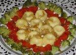Картофельные галушки с овощами