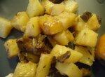 Картофель жаренный с белыми грибами в мультиварке