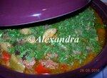 Таджин из говядины с баклажанами и кабачками