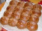 Пшенично-ржаные булочки с солодом (духовка)