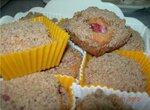Кексы цельнозерновые с клубникой и ореховым штрейзелем