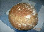 Цельнозерновой пшенично-ржаной молочный хлеб из холодного теста