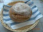 Пшенично-ржаной цельнозерновой хлеб на холодной опаре