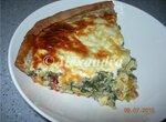 Киш-Лорен из пресного ржаного теста с овощной начинкой