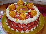 Торт Творожно-клубничная сказка