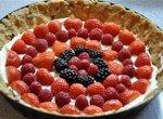 Тарталетка «Экспресс» без выпечки со свежими ягодами и творожно-шоколадным кремом