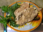 Свинина в горчично-сметанном соусе в мультиварке Aurora