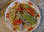 Кабачки с перцем в томатно-сметанной подливке  (мультиварка Aurora)
