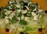 Салат из зеленой редьки с маринованным сыром