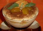 Сальса из груш и чернослива в маскарпоновом креме