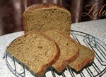 Хлеб пшенично-ржаной с вялеными томатами и шпинатом (хлебопечка)