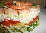 Салат крабово-креветочный