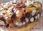 Пирог-перевёртыш с грушами