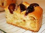 Пирог со сливами (две начинки).