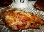 Мясо в маринаде, вяленое в электросушилке