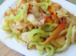 Картофель жареный с луком и болгарским перцем
