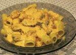 Паста с мидиями в сырном соусе