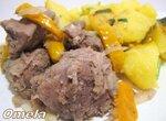 Мясо с айвой по-молдавски в мультиварке Brand 37502