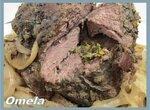 Мясо с чесноком и мятой в медленноварке